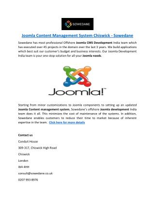 Joomla Content Management System Chiswick - Sowedane