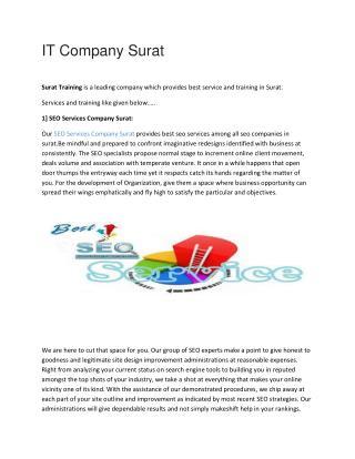 IT Company Surat