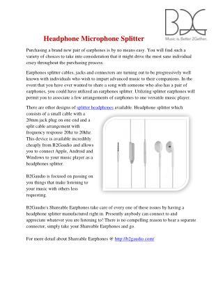 Headphone microphone splitter iphone