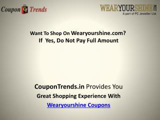 wearyourshine coupons