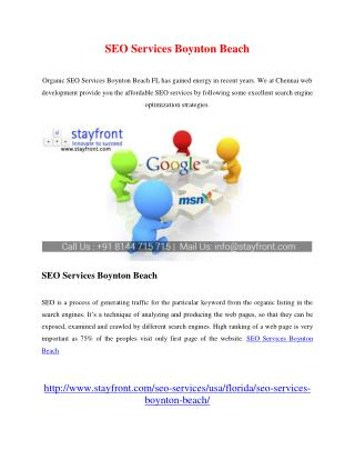 SEO Services Boynton Beach