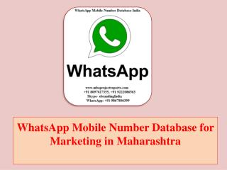 WhatsApp Mobile Number Database for Marketing in Maharashtra