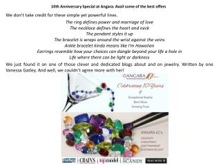 10th Anniversary Special at Angara: Avail some of the best offers