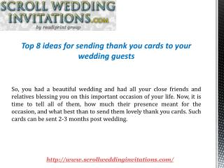 Top 8 Thank you cards ideas for your wedding guests