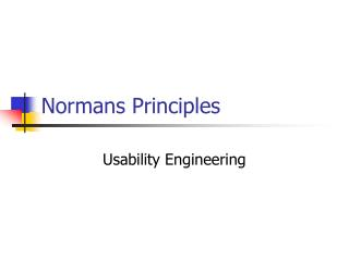 Normans Principles