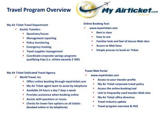 Air Tickets Within Your Budget! A Promise by Myairticket