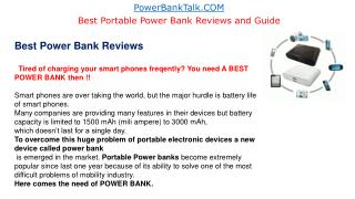 Best Power Banks Reviews & Portable Charger Buyers Guide 2015