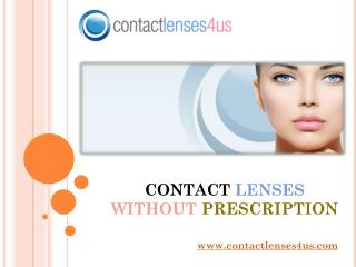 Buy Contact Lenses Without Prescription
