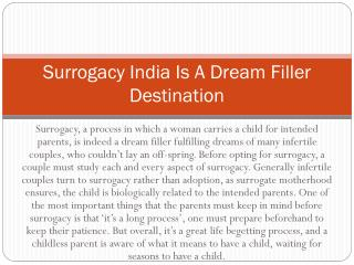 Surrogacy India Is A Dream Filler Destination