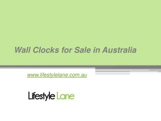 Buy Modern Wall Clocks at www.lifestylelane.com.au