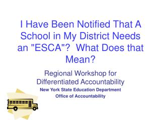 I Have Been Notified That A  School in My District Needs an ESCA  What Does that Mean