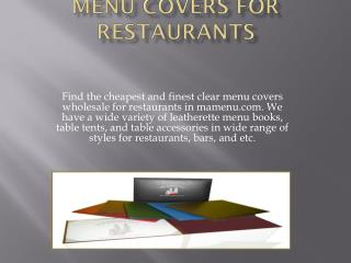 menu covers for restaurants