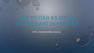 How To Find An Indian Restaurant In Preston