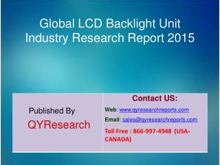 Global LCD Backlight Unit Industry 2015 Market Research, Analysis, Study, Forecasts, Shares, Growth, Development, Insigh