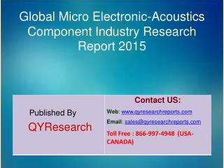 Global Micro Electronic-Acoustics Component Industry 2015 Market Forecasts, Analysis, Applications, Research, Trends, De