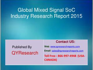 Global Mixed Signal SoC Industry 2015 Market Size, Shares, Research, Insights, Growth, Analysis, Development, Study, Tre