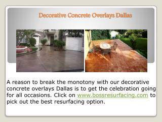 Decorative Concrete Overlays Dallas