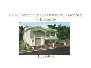 New Luxury villa projects in Hyderabad