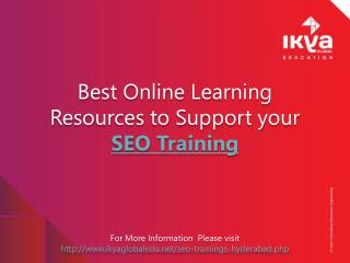 Best Online Learning Resources to Support your SEO Training