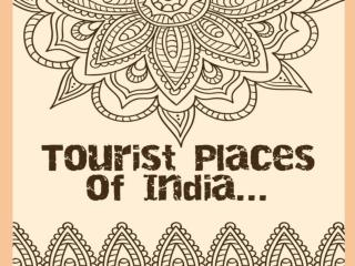 Tourist places of India.