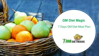 7 Days Gm Diet Meal Plan