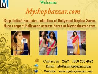 Online Shop for Bollywood Replica Sarees