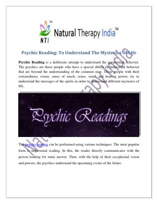 Psychic Reading | Best Psychic Reader In India
