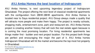 AVJ Amba Homes the best location of Indirapuram