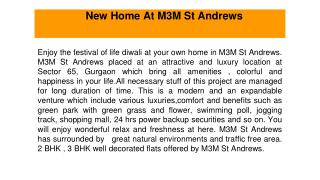New home at m3m st andrews