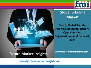 E-Tailing Market size and forecast, 2014-2020 by Future Market Insights