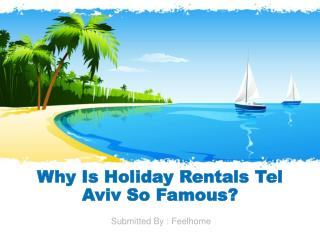 Why Is Holiday Rentals Tel Aviv So Famous?