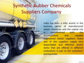 Synthetic rubber chemicals suppliers company