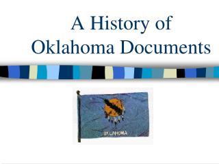 A History of Oklahoma Documents