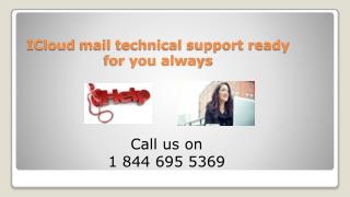 1 844 695 5369 Icloud Tech Support Number