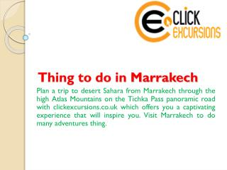 Thing to do in Marrakech
