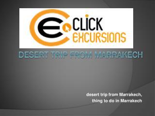 Desert Trip from Marrakech