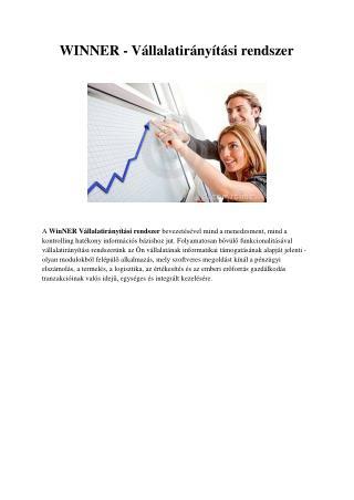 Modern ERP rendszer tervezés és értékesítés