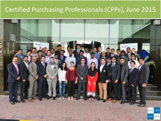 Certified Purchasing Professionals (CPPs), June 2015