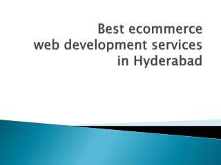 Best ecommerce web development services in Surat