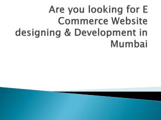 Are you looking for E Commerce Website designing & Development in Mumbai
