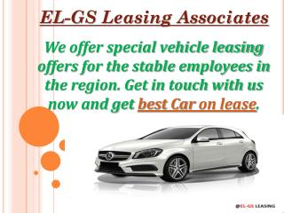 Short term car rental by EL-GS Leasing