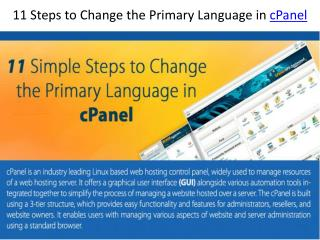 11 simple steps to change the primary language