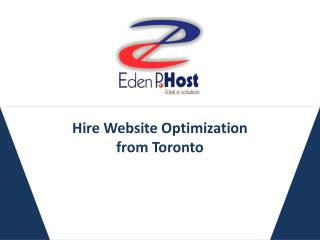 Hire Website Optimization from Toronto