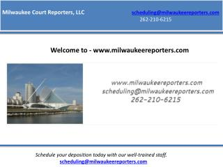 Court reporting milwaukee