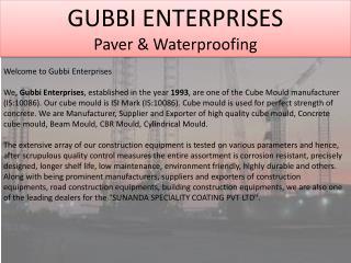 Paver & Waterproofing