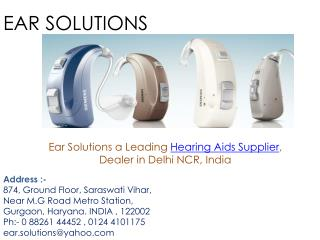 Hearing aid supplier Delhi EAR Solutions
