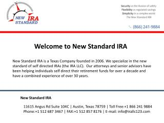 Self Directed IRA - New Standard IRA