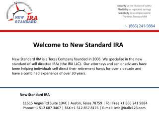 Self Directed IRA - New Standard IRA