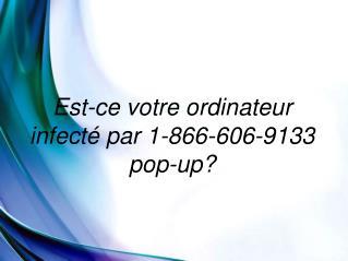 L'élimination complète Guide de la  1-866-606-9133 pop-up