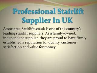 Professional Stairlift Supplier In UK